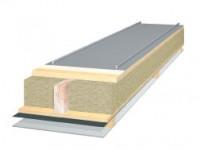 FalZinc felsbaar aluminium; artist impression van plaat met isolatie en FalZinc, geleverd door Felsfabriek Zaltbommel