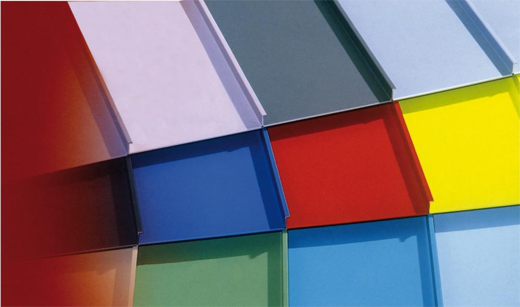 Falzonal aluminium gevel- en dakbedekking met veel kleuren